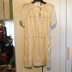 White madewell dress with pockets unworn size 10